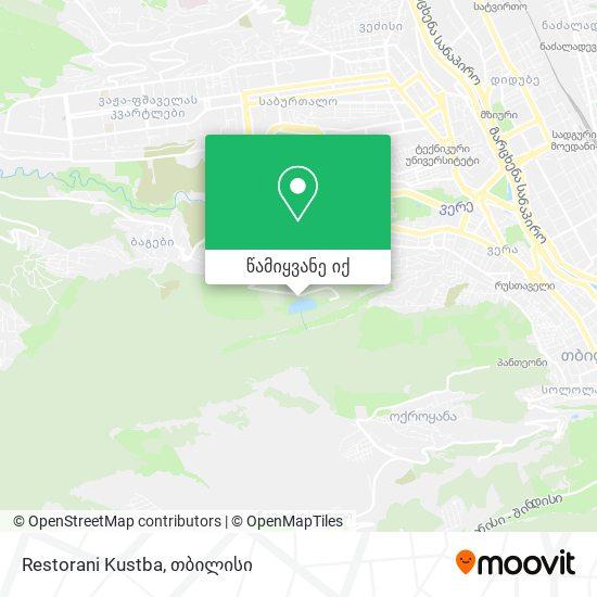 Restorani Kustba რუკა
