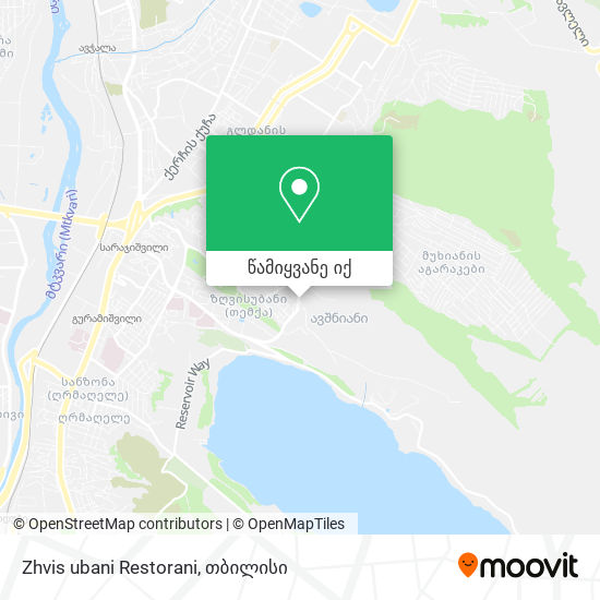 Zhvis ubani Restorani რუკა