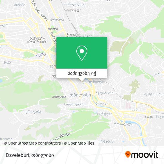 Dzveleburi რუკა