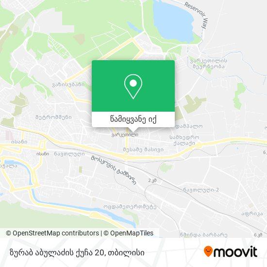 ზურაბ აბულაძის ქუჩა 20 რუკა