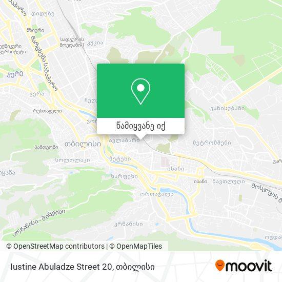 Iustine Abuladze Street 20 რუკა