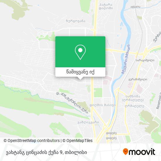 ვახტანგ ცინცაძის ქუჩა 9 რუკა