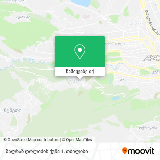 მალხაზ დოლიძის ქუჩა 1 რუკა