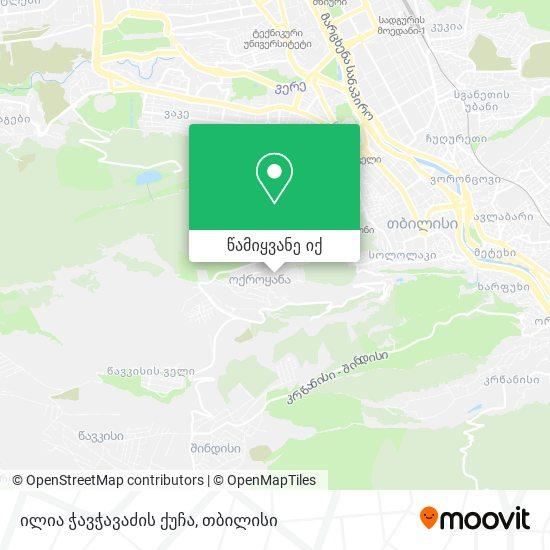 ილია ჭავჭავაძის ქუჩა რუკა