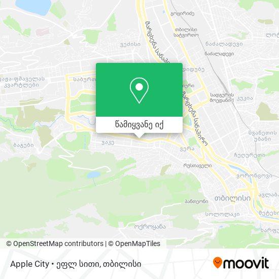 Apple City • ეფლ სითი რუკა