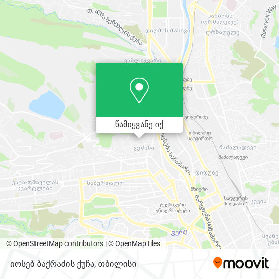 იოსებ ბაქრაძის ქუჩა რუკა