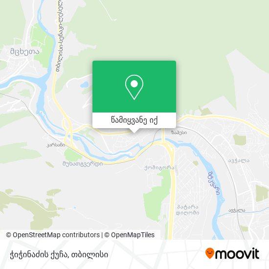 ჭიჭინაძის ქუჩა რუკა