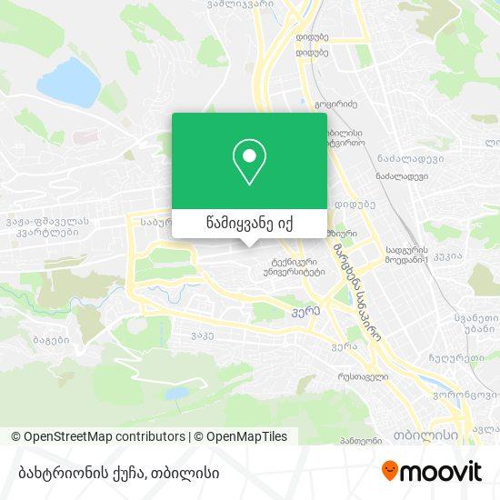 ბახტრიონის ქუჩა რუკა