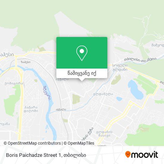 Boris Paichadze Street 1 რუკა