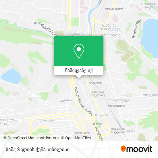 სამტრედიის ქუჩა რუკა