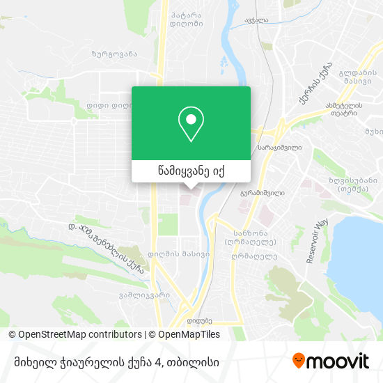 მიხეილ ჭიაურელის ქუჩა 4 რუკა