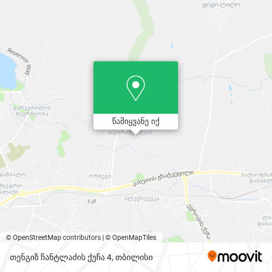თენგიზ ჩანტლაძის ქუჩა 4 რუკა