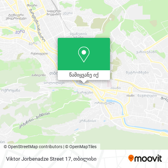 Viktor Jorbenadze Street 17 რუკა