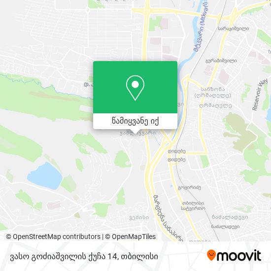 ვასო გოძიაშვილის ქუჩა 14 რუკა