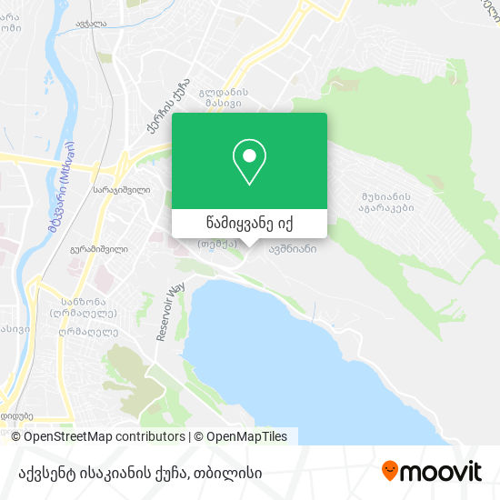 აქვსენტ ისაკიანის ქუჩა რუკა