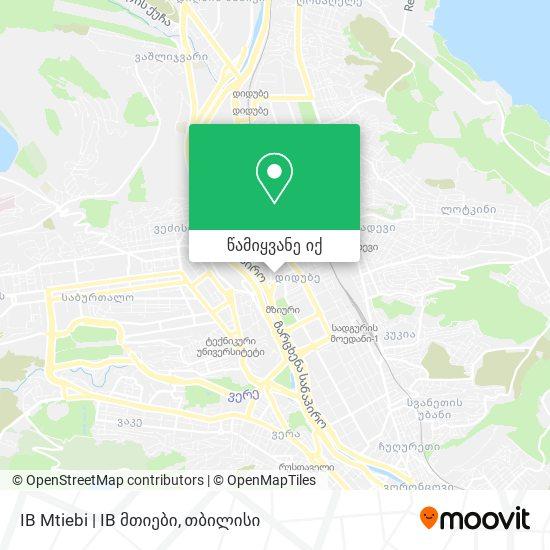 IB Mtiebi | IB მთიები რუკა