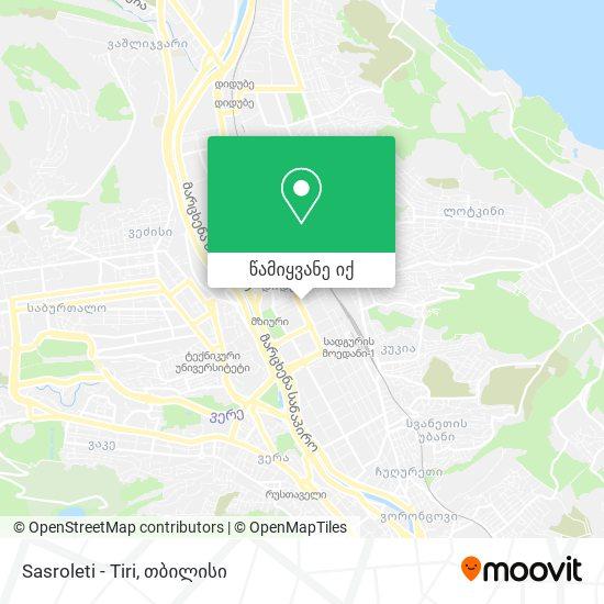 Sasroleti - Tiri რუკა