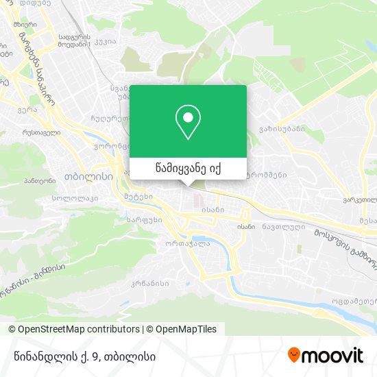 წინანდლის ქ. 9 რუკა