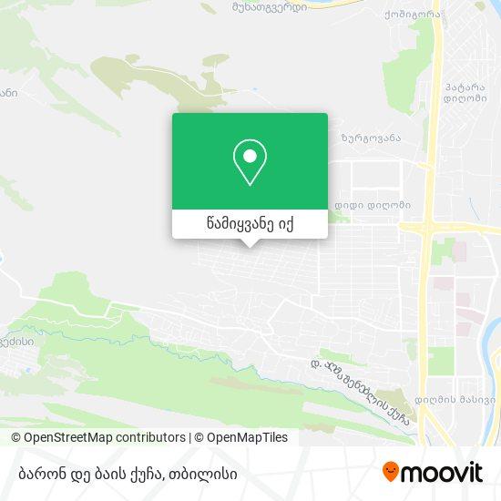 ბარონ დე ბაის ქუჩა რუკა