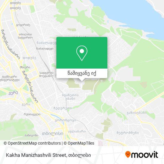 Kakha Manizhashvili Street რუკა