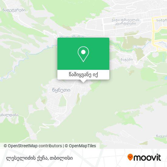 ლესელიძის ქუჩა რუკა