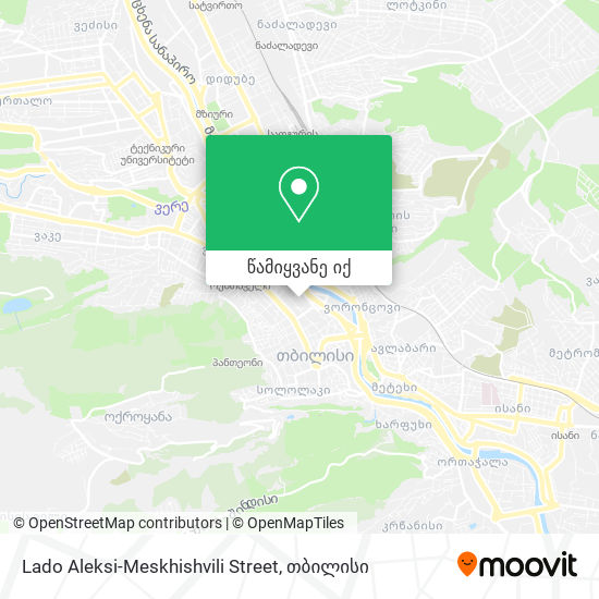 Lado Aleksi-Meskhishvili Street რუკა