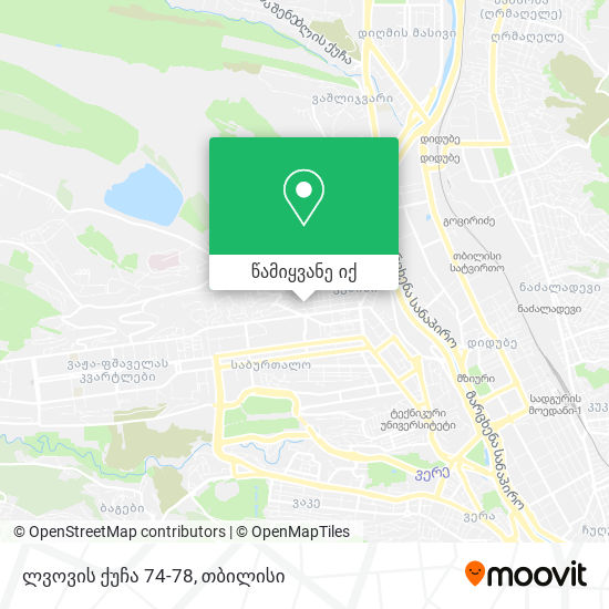 ლვოვის ქუჩა 74-78 რუკა