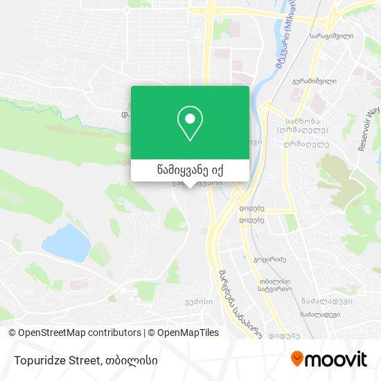 Topuridze Street რუკა