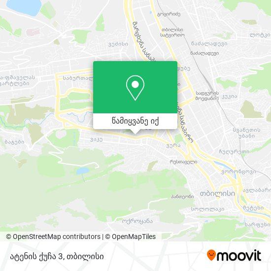 ატენის ქუჩა 3 რუკა