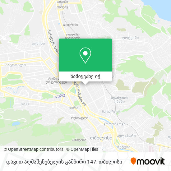 დავით აღმაშენებელის გამზირი 147 რუკა