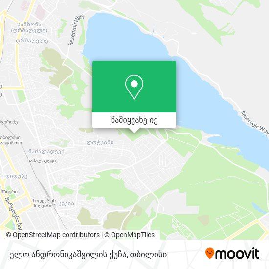 ელო ანდრონიკაშვილის ქუჩა რუკა