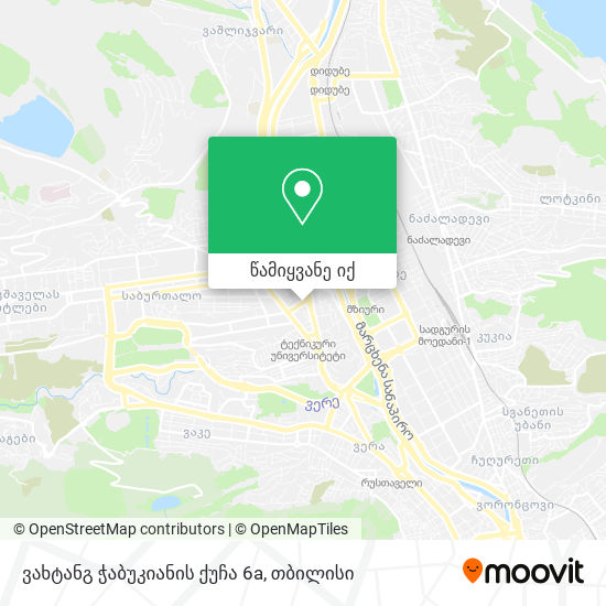 ვახტანგ ჭაბუკიანის ქუჩა 6a რუკა