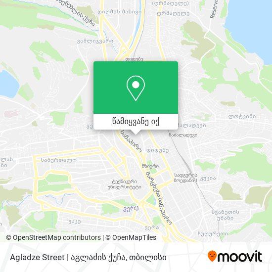 Agladze Street | აგლაძის ქუჩა რუკა