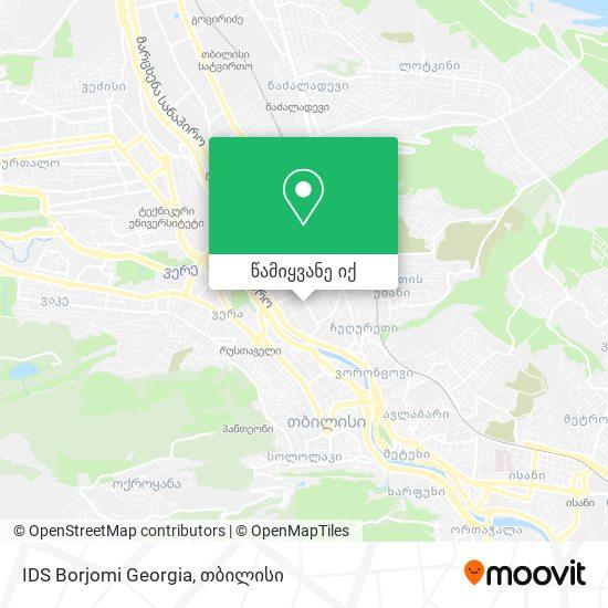 IDS Borjomi Georgia რუკა