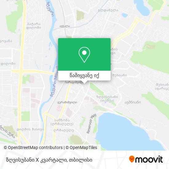 ზღვისუბანი X კვარტალი რუკა