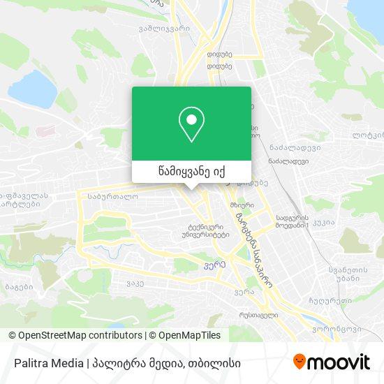 Palitra Media | პალიტრა მედია რუკა
