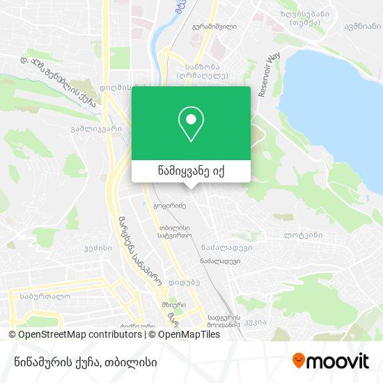 წიწამურის ქუჩა რუკა