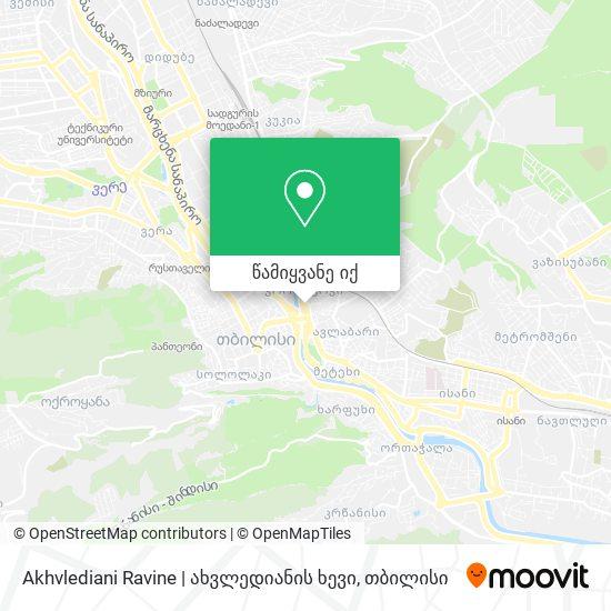 Akhvlediani Ravine | ახვლედიანის ხევი რუკა