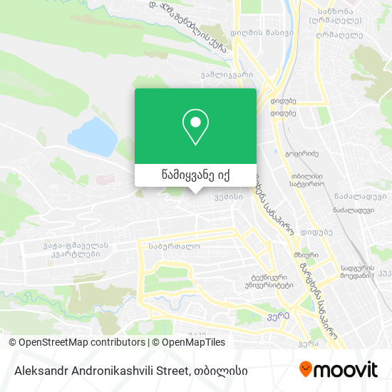 Aleksandr Andronikashvili Street რუკა