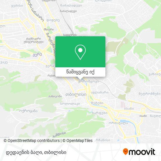 დედაენის ბაღი რუკა