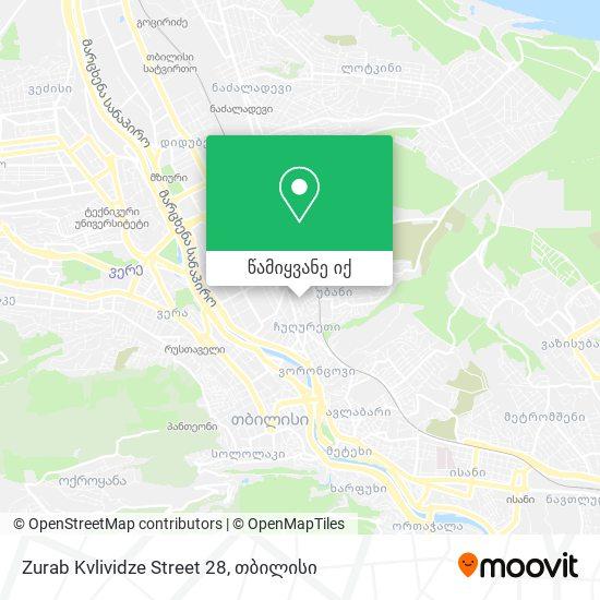 Zurab Kvlividze Street 28 რუკა