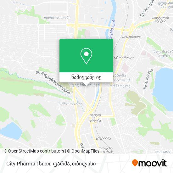 City Pharma | სითი ფარმა რუკა