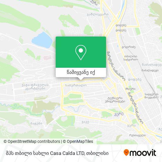 შპს თბილი სახლი   Casa Calda LTD რუკა