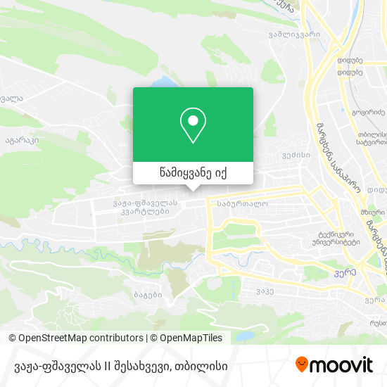 ვაჟა-ფშაველას II შესახვევი რუკა