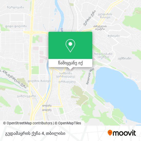 გუდამაყრის ქუჩა 4 რუკა
