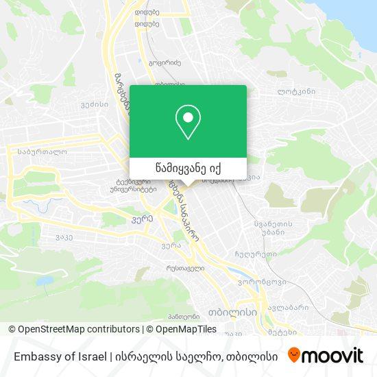 Embassy of Israel | ისრაელის საელჩო რუკა