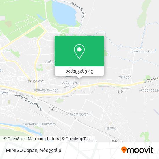 MINISO Japan რუკა