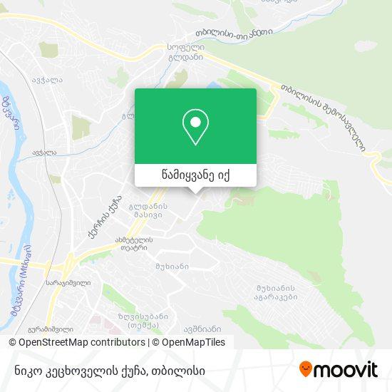 ნიკო კეცხოველის ქუჩა რუკა