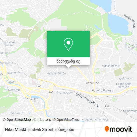 Niko Muskhelishvili Street რუკა