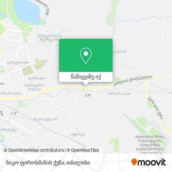 ნიკო ფიროსმანის ქუჩა რუკა